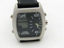 getragene Uhr, Jeans LEE, Herren Armbanduhr Analog + Digital (Dual Time), Alarm