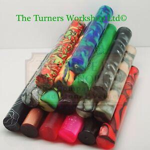 WOOD-TURNING -16 Pack of  Acrylic Round Pen Blanks
