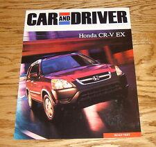 2002 Honda CR-V EX Car and Driver Sales Brochure 02
