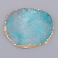 Crystal Imitation Agate Nail Art Palette Coaster Cup Mat Pad Jewelry Display