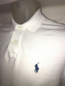 Ralph Lauren White polo shirt size Small,custom fit