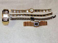 Ladies Quartz Watches, Lot of 4. Geneva, Regency, Albin, Gruen.