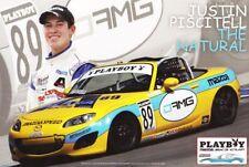 2009 Justin Piscitell DAMG Miata SCCA Playboy Mazda MX-5 Cup postcard