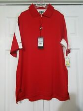 NWT PING Perfomance Collection P3 S/S Polo Shirt Red/White Sz. LARGE