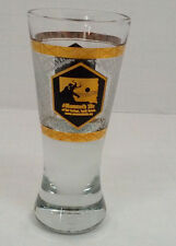 vintage souvenir tall  shot glass the mammoth site Hot Springs South Dakota