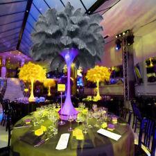 1/5/10x Ostrich Feathers Plume Centerpiece Wedding Party Table Decor 30-35cm 04 10pcs Grey