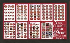 """San Francisco 49ers NFL Football 15-150  1""""Precut  Bottle Cap Images for Jewelry"""
