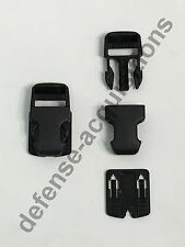 1 INCH Duraflex Surface Mount Surmount Military Pouch Replacement Buckle BLK