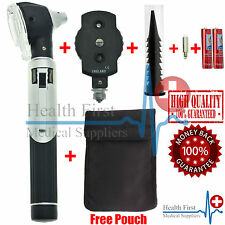 LED F.O Otoscope Ophthalmoscope Opthalmoscope ENT Diagnostic Examination Set