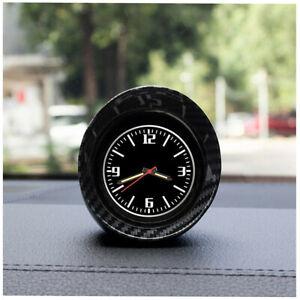 Carbon Fiber Look Pointer Clock Luminous Backlight For Car Interior Dashboard