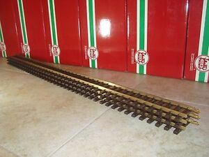 LGB 10610 BRASS 4 FOOT STRAIGHT TRACK SET OF 3 PIECES BRAND NEW NO BOX!
