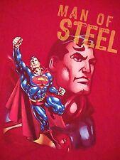 Superman Man of Steel DC Comics Six Flags Souvenir Roller Coaster T Shirt L