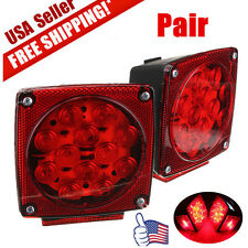NEW 12V LED TRAILER TAIL LIGHT KIT BRAKE TURN SIGNAL UTILITY RV'S BOAT TRUCK VIP