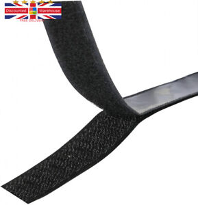 TRIXES Hook and Loop Tape - Self-Adhesive Band – Double Sided Single Strip