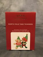 2020 Hallmark Ornament North Pole Tree Trimmers ELF Gingerbread Man #8 in Series