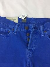 "ABERCROMBIE & FITCH ""SKINNY"" BUTTON FLY JEANS 30X32  Blue New"