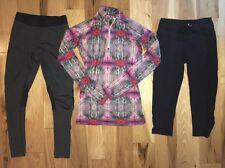 Nike Pro Combat Colored 1/4 Zipper Pullover Nike Leggings Athleta Black XS