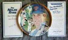 Nolan Ryan Strikeout Express Plate Vintage 1993 Hamilton w Coa Rangers Astros