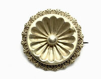 Antique Victorian Ornate Silver Target Brooch GIFT BOXED