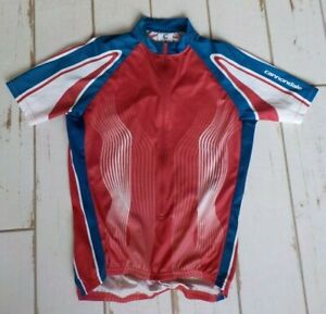 Cannondale Cycling Jersey Men's Med Red, White & Blue