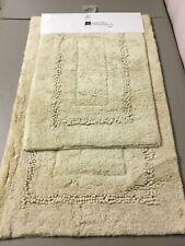 Chesapeake Merchandising 2 pc. Cotton Bath Mat Rug Set Ivory #35V