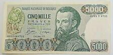 5000 Francs Frank 1971 <<===>>> 1977 België Belgique Vesale Belgium KM#137