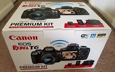 Canon DSLR Camera Bundle Kit, EOS Rebel T6 w/ 18-55 mm & 75-300 mm Lenses & Case