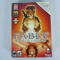 FABLE THE LOST CHAPTERS Microsoft CD-ROM PC GAME 2005 Game Of The Year EUC