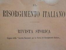 IL RISORGIMENTO ITALIANO 1912 Guizot Altacomba Della Rovere Cavour Lazio Sicilia