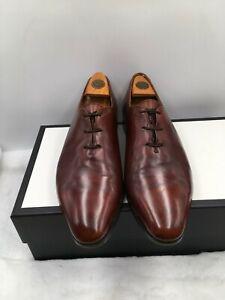BERLUTI Brown Wholecut Leather Oxford Dress Shoes Lace up Men's Sz 9 US/8 UK 369