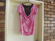 City Chic Draping Neck Top sz S?