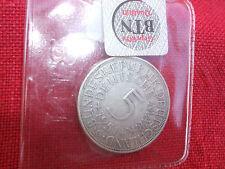 5 DM Münze Silberadler, 1951 G,  geprüft, Umlaufmünze 5 Mark Kursmünze BRD 1951g