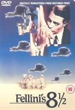 FELLINI'S 8 1/2 EIGHT AND A HALF GENUINE R2 DVD MARCELLO MASTROIANNI NEW/SEALED