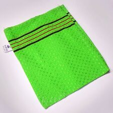 NEW! SMALL GREEN ITALY TOWEL KOREAN WASHCLOTH BODY SCRUBBER EXFOLIATING SONGWOL