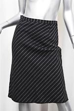 KATAYONE ADELI Womens Charcoal Pinstripe Striped Knee-Length A-Line Skirt 6