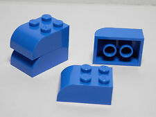 LEGO LEGOS Set of 4 NEW Modified Brick  2 x 3 with Curved Top  Blue HARRY POTTER