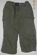 CHILDRENS PLACE boys khaki olive green CARGO PANTS* LINED* 18 months