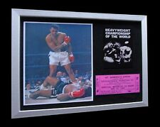 MUHAMMAD ALI+CASSIUS CLAY+Sonny liston 1965+LTD+FRAMED+EXPRESS GLOBAL SHIPPING!!