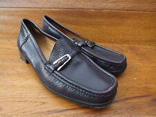 Bally Decade Brown Pebble Grain Leather Loafers Mocassins  UK 4.5 EU  37.5