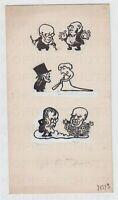 Zeichnung für die JUGEND 1905 Karikatur auf Adolph von Menzel Arpad Schmidhammer