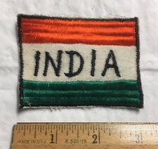 National Flag of India Indian Flag Colors Embroidered Souvenir Patch