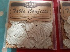 12 x packs of assorted paper heart table confetti wedding vintage rustic