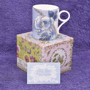 Wedgwood Tea Story Blue Peony 200ml Coffee Or Tea Mug ~ New Boxed 1st