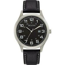 Bulova 96B276 Gents Stainless Steel Date Black Dial 3 Year Warranty RRP £169.00