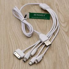 5 in 1 MULTI USB PHONE CHARGER Cable HTC Samsung Sony Xiaomi Nokia Huawei Iphone