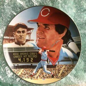 Pete Rose, 1985 Large Gartlan Plate, #1289/4192 AUTOGRAPHED!