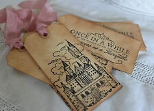 FAIRYTALE WEDDING-Wedding Wish Tree-Gift Tags-Favours-Vintage Style-Set of 6