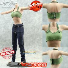 1/6 Scale Female Vest/Bra/Underwear Model Green Fit 12'' Body Doll Phicen Figure