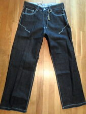 NW Brooklyn Jeans, Raw Charcoal Denim, Size 34 x 30 Relaxed Fit (P-M-977)