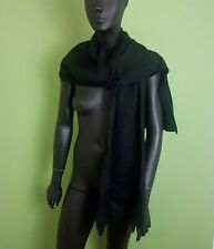 "Barts Mens Scarf Black Knitted 72"" x 12"" Plain James Scarf Extra Long"